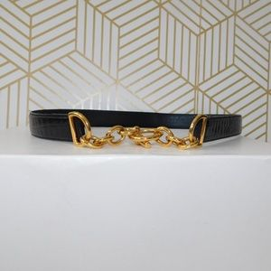 Ann Taylor made in Italy leather chain belt